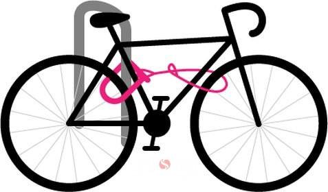 obr. 2A - zamykanie o rám a prepojenie kolesa a rámu